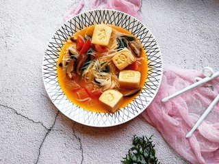 宝宝辅食—番茄豆腐杂蔬面