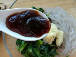 凉拌菠菜粉条,一勺蚝油