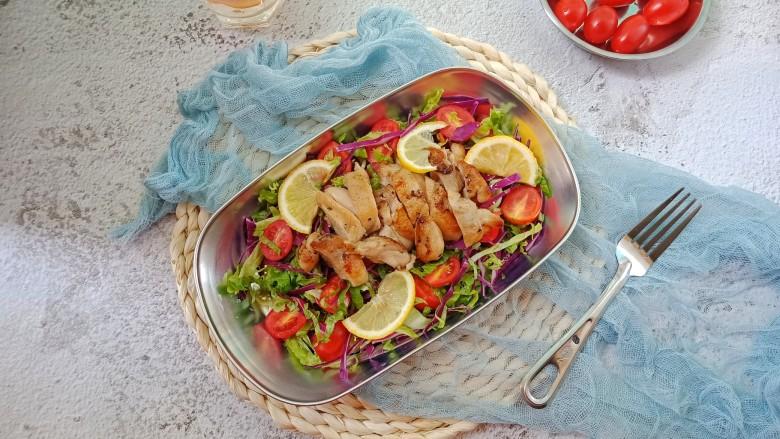夏日减脂~鸡肉沙拉,成品