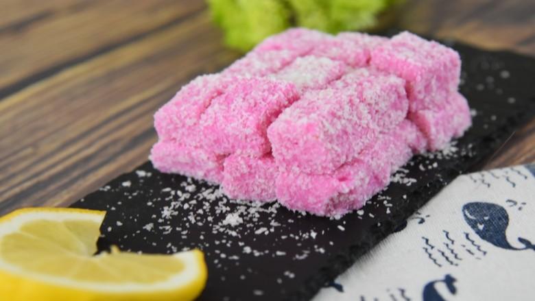 火龙果牛奶小方—这是一款甜心美味高颜值的手工DIY甜品