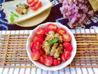 夏日去湿,紫苏烤五花肉,装盘
