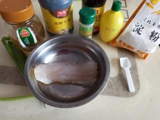 照烧汁巴沙鱼排,准备原料