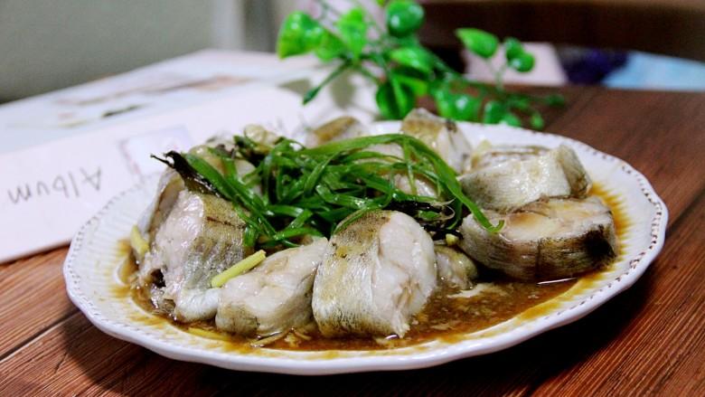 入口即化的清蒸鳕鱼,好啦,可以享受美味啦。