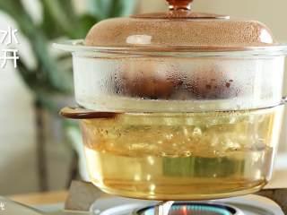 香菇酿肉圆18m+,水开之后,蒸10分钟~
