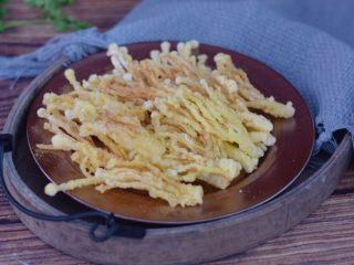 椒盐金针菇,成品图