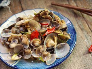 梅汁炒蛤,近看