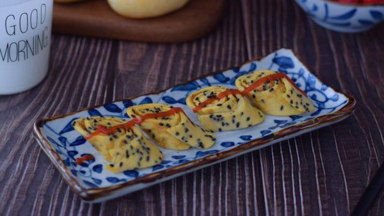 黑芝麻虾皮鸡蛋饼