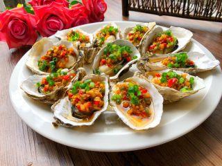 蒜蓉牡蛎,看着就超美味