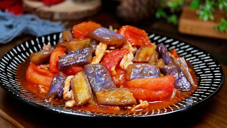 番茄烧茄子,番茄烧茄子就做好了。