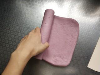奶香紫薯馒头 ,最后一次从边缘卷起
