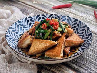 超级下饭的香煎豆腐块,美味……