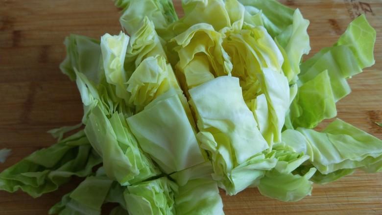 粉丝凉拌圆白菜,自然就开散了。
