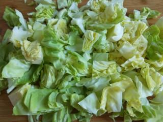 粉丝凉拌圆白菜,用手轻轻抖一抖就是块了。