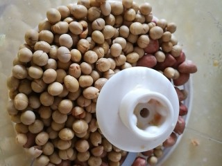 改良版黄芪姜枣黑糖 温阳化瘀效果好 (无麦芽糖),将事先炒过的黄豆和花生倒入料理机
