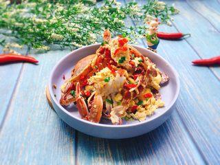 下酒菜+螃蟹抱蛋,成品图