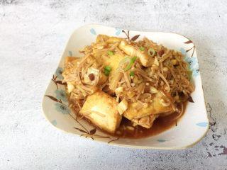 金针菇炖豆腐,美味出锅啦!