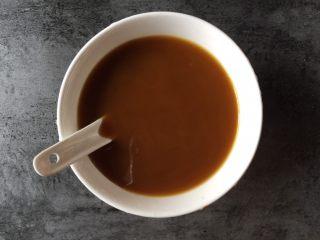 糖醋豆腐,搅拌均匀成调味汁