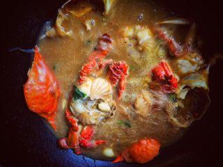 大蟹粉丝煲,放飞蟹