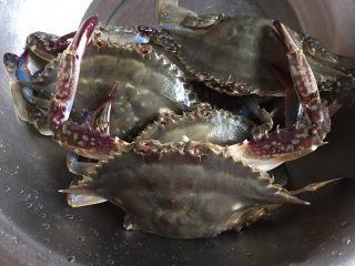大蟹粉丝煲,洗