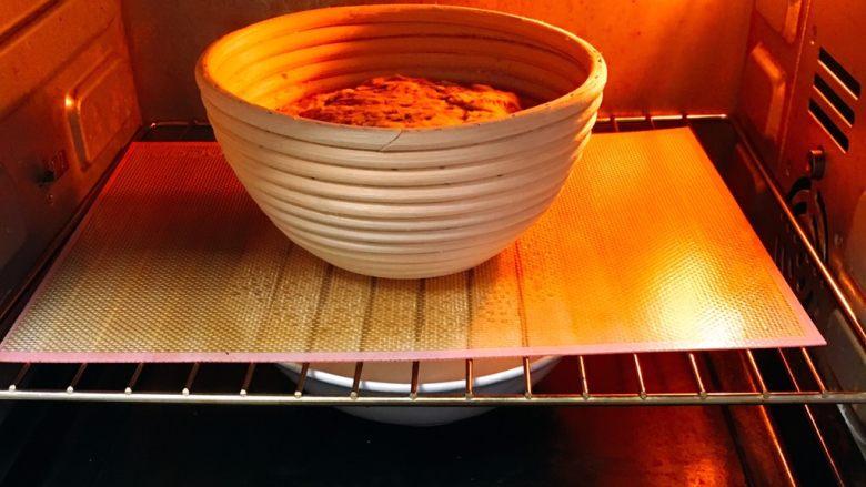 芝麻核桃黑麦包,送入烤箱两次发酵,方法同上也是60分钟。