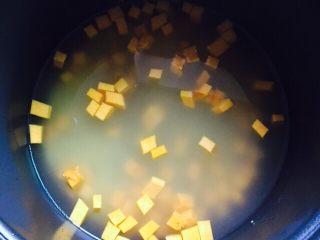养胃粥+南瓜金粥,热水的量约1500ml