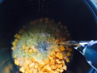 养胃粥+南瓜金粥,加入足够的热水
