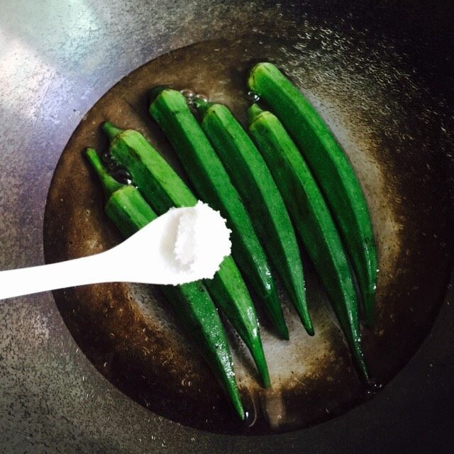 营养美味+金沙秋葵,加一茶匙盐