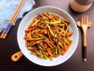 豇豆香干炒肉丝,下饭好吃!