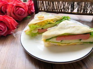 自制三明治,成品图二