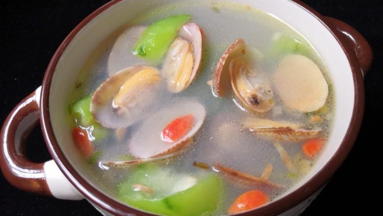 丝瓜花蛤汤,做法是不是非常的简单。