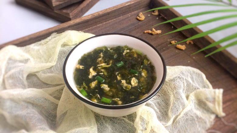 虾米紫菜鸡蛋汤