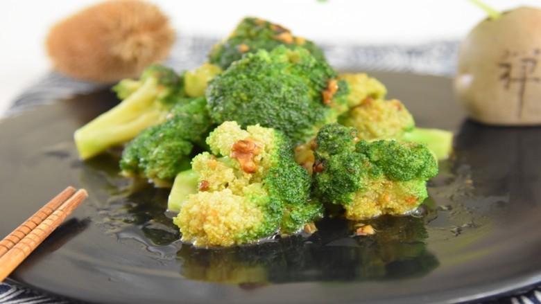 蚝油蒜香西兰花这样做最美味, 营养高味道棒