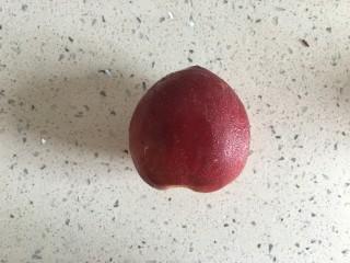桃橙之恋 夏日饮品,油桃一个