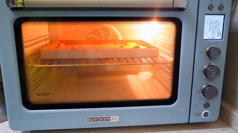 9个月以上辅食健康零食烤番薯片,烤箱预热220度