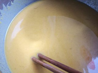 健康粗粮小点心:蜂蜜玉米面饼,多搅拌一会,确保没干粉没颗粒。