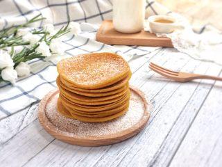 健康粗粮小点心:蜂蜜玉米面饼,成品图。