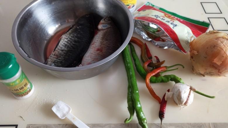 香辣烤鱼,准备
