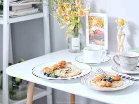 清凉夏日早餐继续 | 自制奥尔良烤翅+蓝莓燕麦奶昔