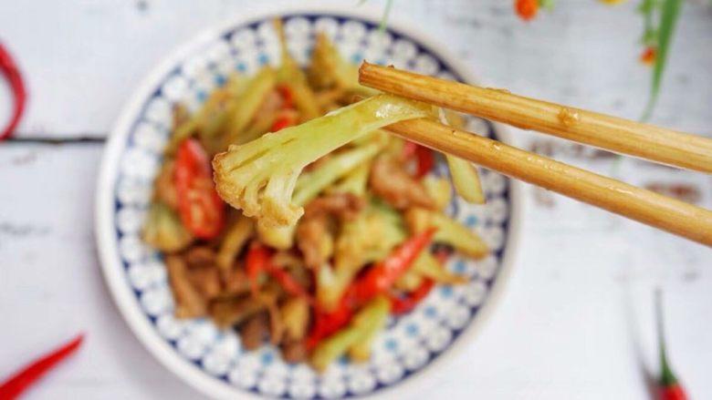 家常干锅花菜,成品图