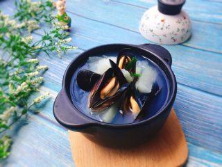夏天必喝+冬瓜淡菜汤,成品图