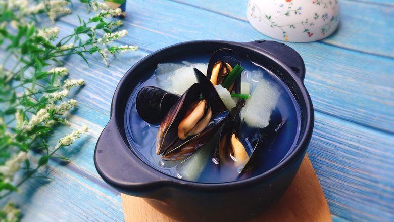 夏天必喝+冬瓜淡菜汤