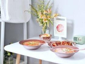 番茄主题 | 番茄蛋汤+胡萝卜土豆饼