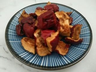 营养早餐――红枣小米粥,红枣洗净切小块。