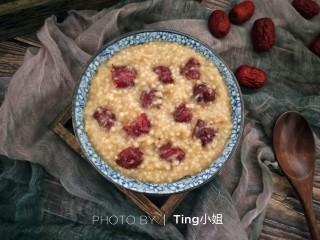 营养早餐――红枣小米粥,成品