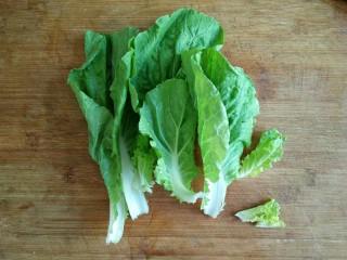 照烧鸡腿饭,青菜摘好洗净。