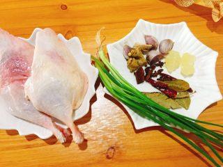 下酒菜+红烧鸭腿,食材准备好