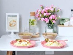 番茄主题 | 蛋盖炒番茄+菜汤+青柠薄荷水