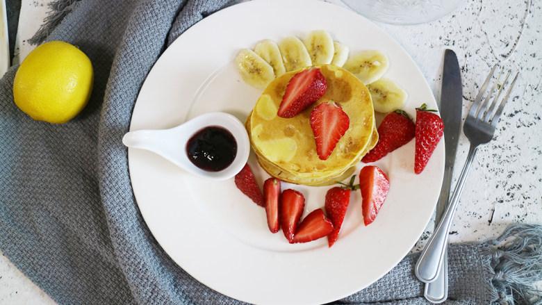营养丰富的健康早餐之鸡蛋松饼