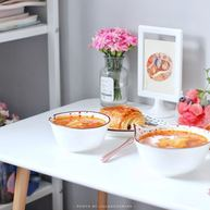 番茄主題 | 好喝的番茄土豆湯+面包+水果杯