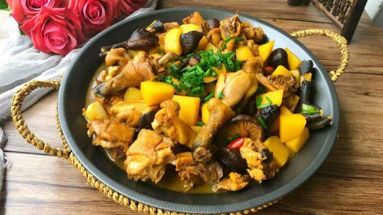 香菇土豆炖鸡块